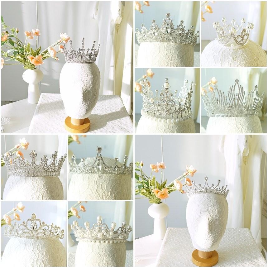 메리유 셀프 웨딩 티아라 왕관, 1개, 1. 별꽃