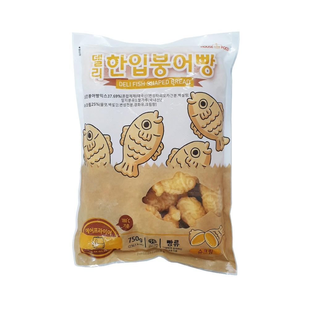 델리 한입 미니 붕어빵 (슈크림) 750g 1봉