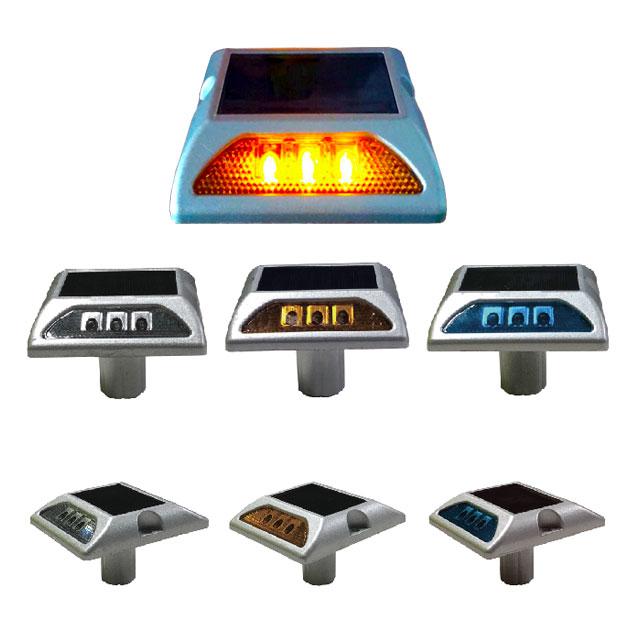 완성기업 사각 쏠라 LED 도로표지병(양면) 지속등