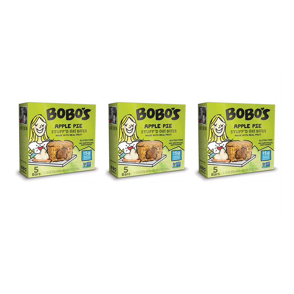 보보스 애플 파이 스터프 오트 바이트 185g 3팩 Bobos Apple Pie Stuffd Oat Bites