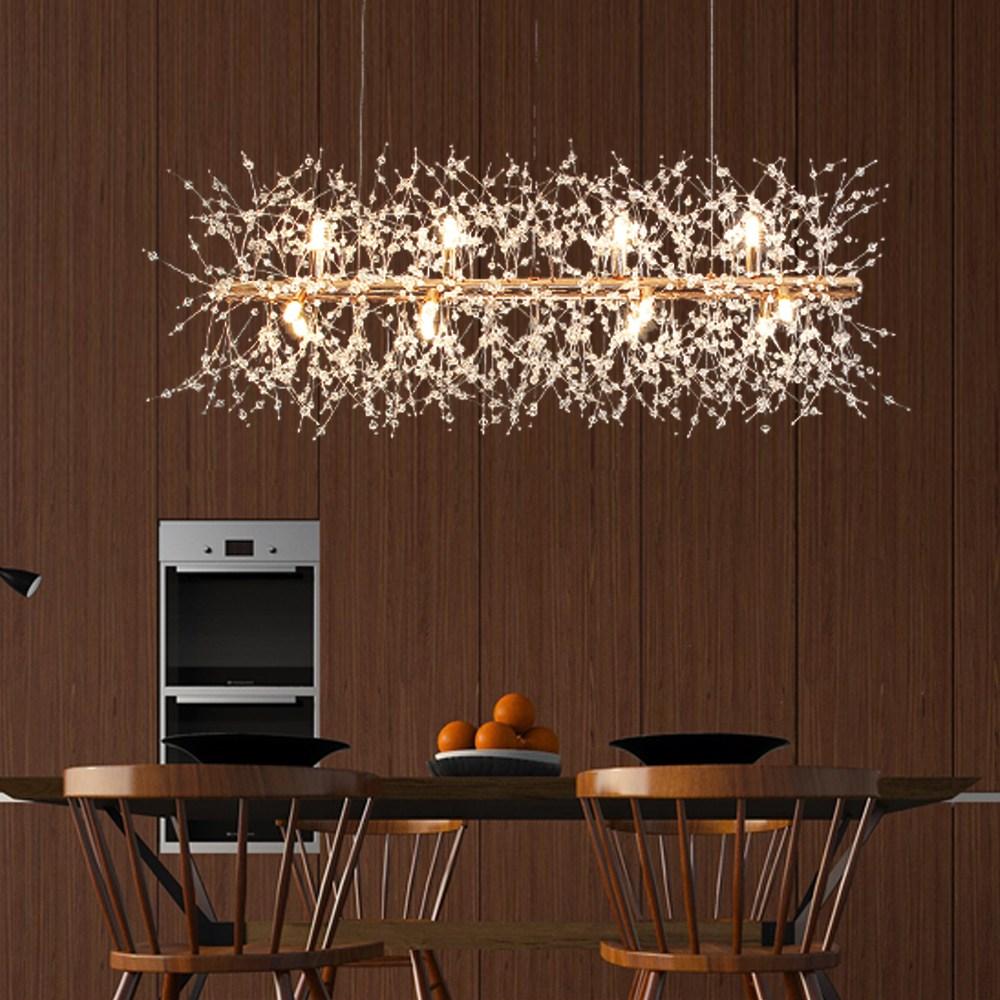 예스케이라이팅 스포아 12등 팬던트 인테리어조명 크리스탈 식탁등 (사은품 증정 LED램프 12EA) 천장등/실링라이트