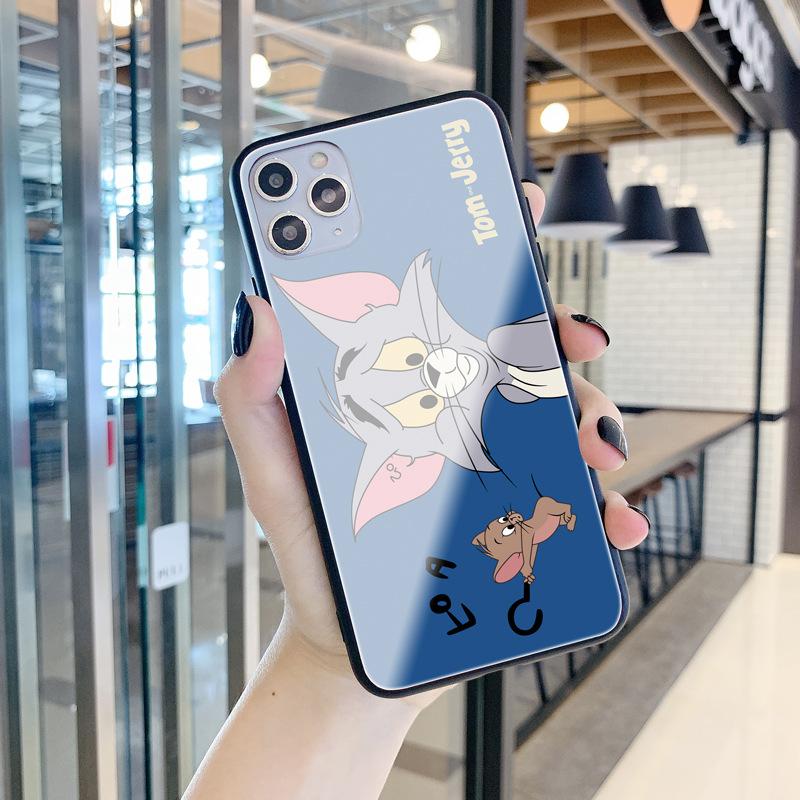 쇼오미 10 지존 LITECC9PRO8SEMIX2SMAX36X 애니메이션 TOM고양이 유리 핸드폰케이스 핸드폰 케이스