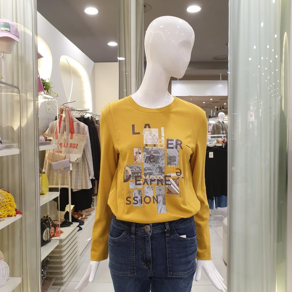 씨씨콜렉트 (초특가)가을 프린팅 티셔츠 C193MSM005 80% 긴팔