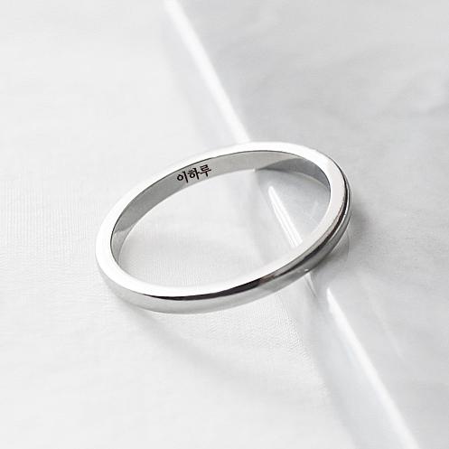 LIKEY [커플링 우정링] 모어앤모어 반지 (글자 이니셜각인가능)