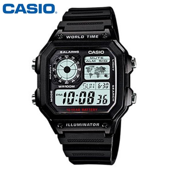 CASIO 카시오 남성 AE-1200WH-1A 군인 군대 군용 전자 스포츠 시계