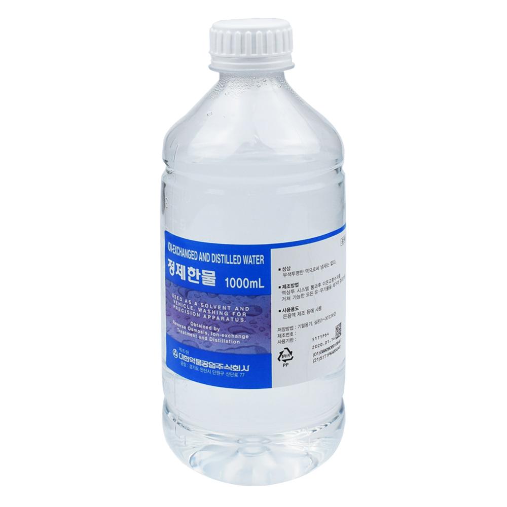 대한약품 대한약품 정제한물 1000ml 1개 정제수 증류수, 단품