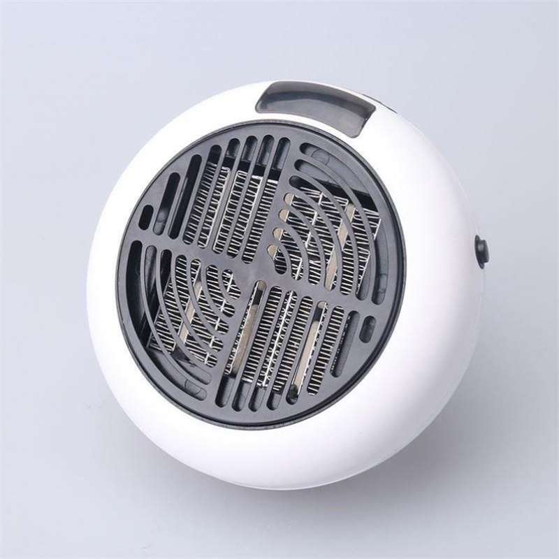 전기히터 작은태양 초미니 온풍기 학생기숙사 가정용 소형 콘센트 휴대용 에너지 전열 난방기, T02-B65-원형 화이트 900W(사용 20)