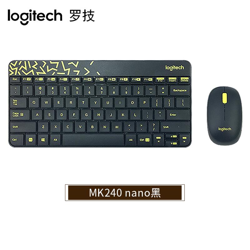 로지텍 MK245 컴퓨터 노트북 데스크탑 무선키보드 무선마우스 세트, MK240nano 검은 색., MK240nano 검은 색.
