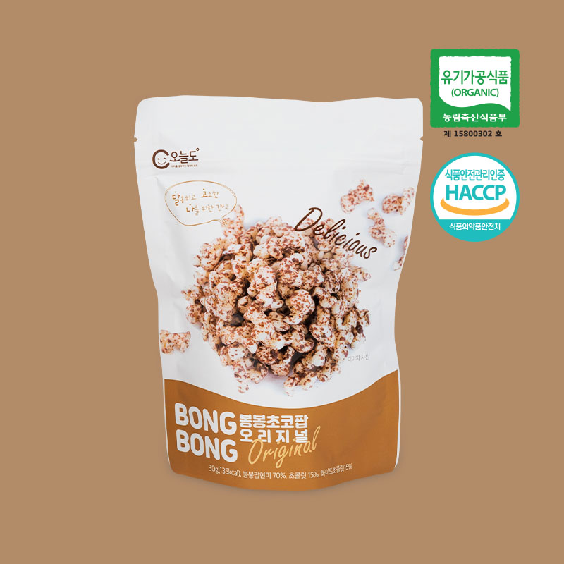 [오늘도]유기농초코과자 봉봉초코팝 x 6개