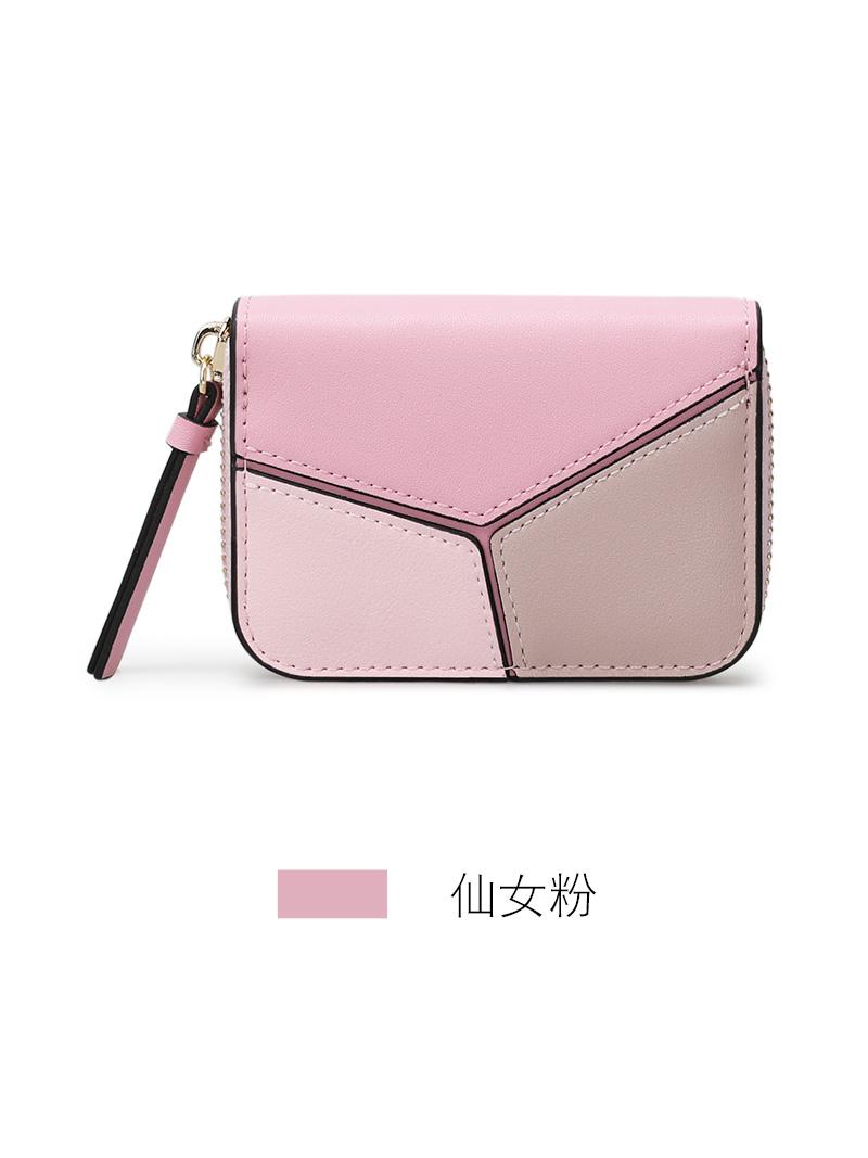 카드지갑 KQueenStar2019신상 배색 다용도 증명서 카드 가방