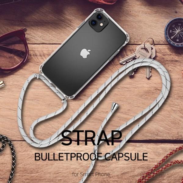 LG Q51 Q510 엘지 큐51 전용 핸드폰 목걸이 넥스트랩 방탄 투명 젤리 휴대폰 케이스