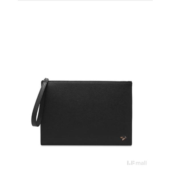 [현대백화점][닥스핸드백]DBBA0E465BK 블랙 닥스훈트 로고 가죽 스몰 클러치백