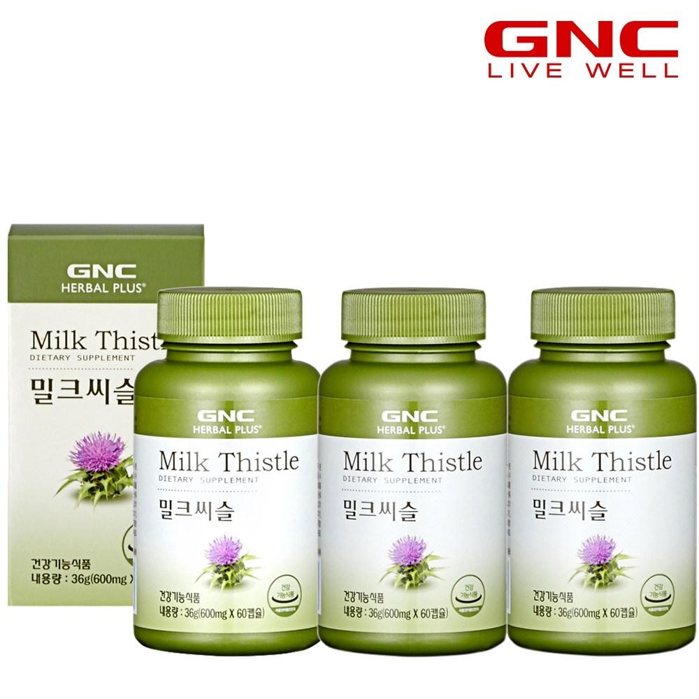 GNC 밀크씨슬 (60캡슐), 36g, 3개