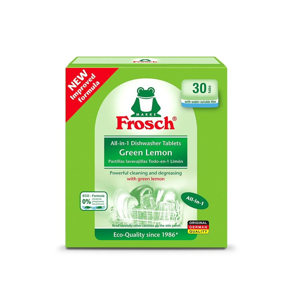 프로쉬 올인원 식기세척기 세제 그린레몬, 20g, 30개입