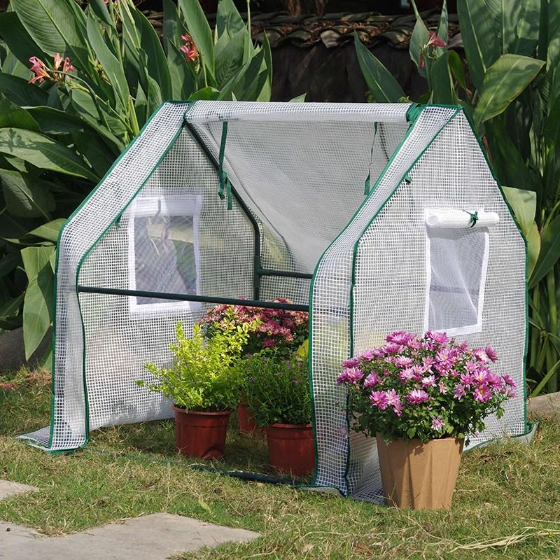 조립식 미니 소형 비닐 하우스 베란다 온실 텃밭 옥상 다육이 화분, 90x90x90망