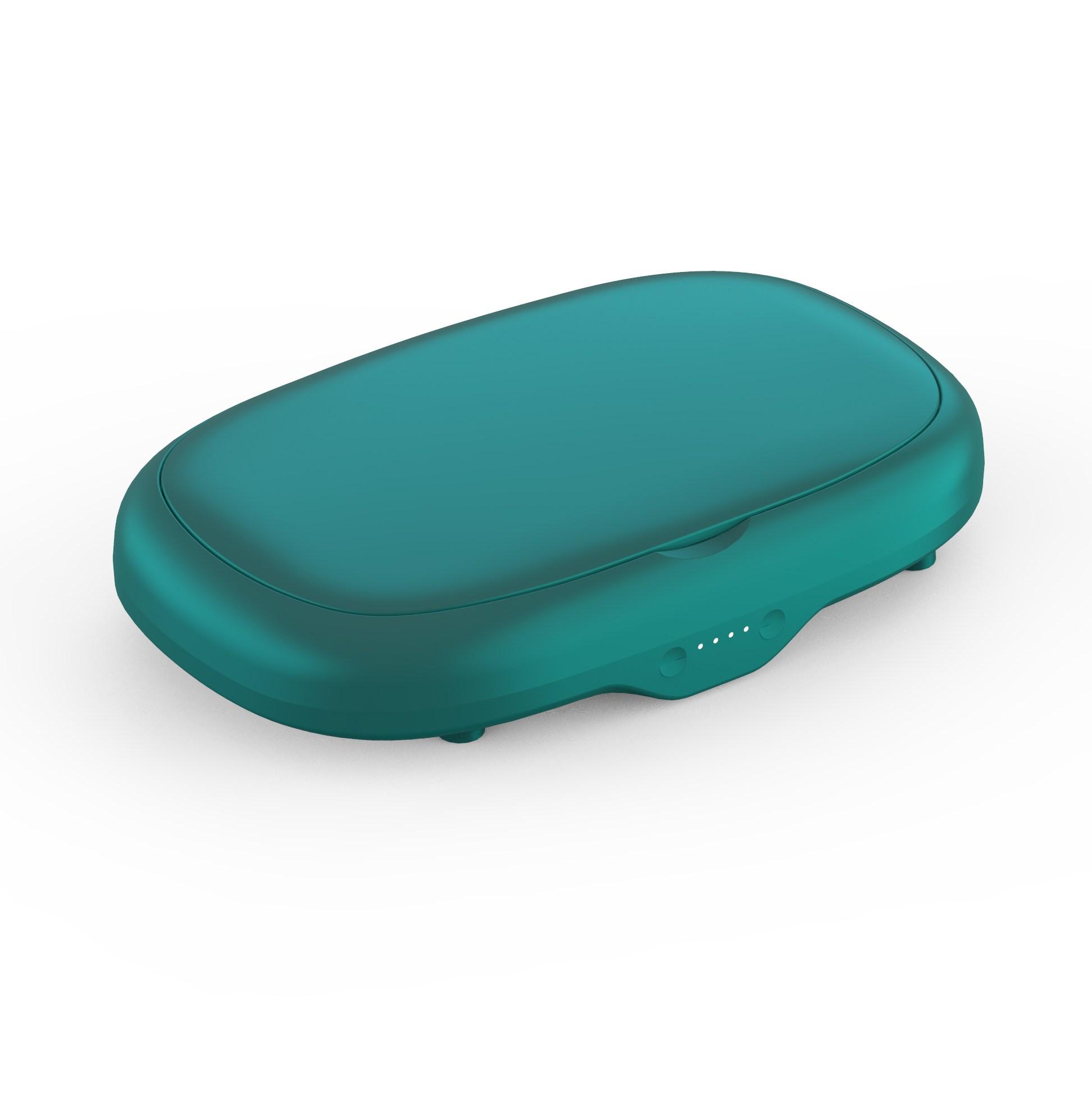uv sterilizer 자외선 살균기 소독기 멸균기 자외선 마스크 소독 케이스 소형 휴대전화 안경 다기능 무선충전 휴대용 uv 오존 살균기, 3.녹색