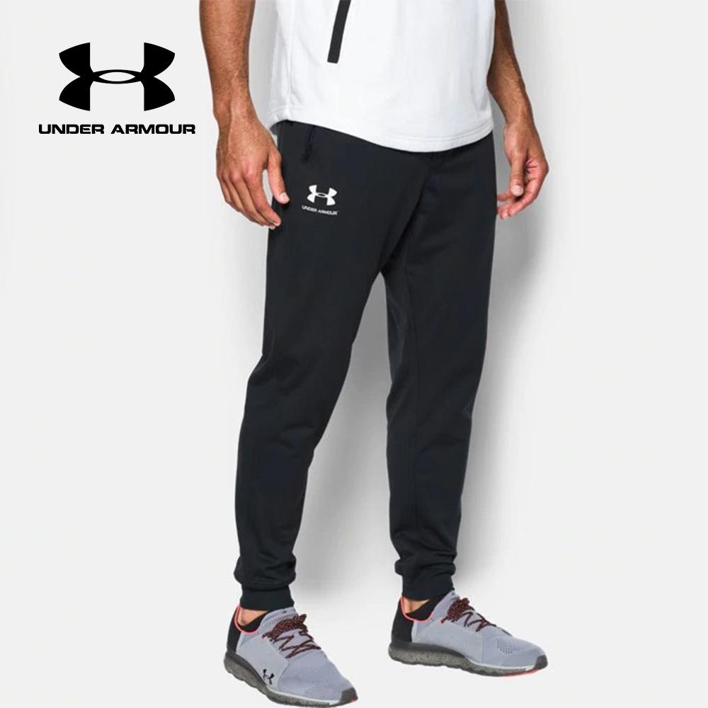 언더아머 UA 스포츠스타일 남성 블랙 조거 팬츠