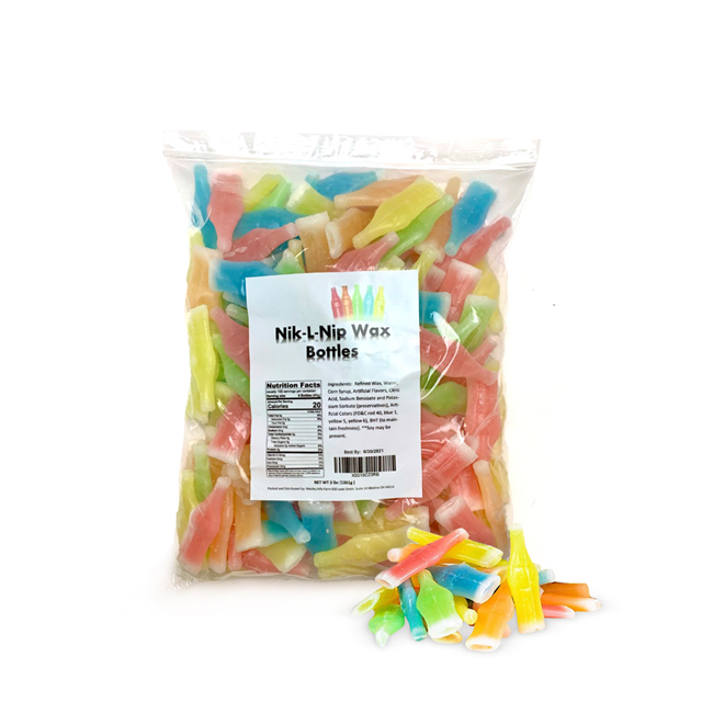 Nik-L-Nip 닉클립 왁스병 캔디 대용량 벌크 1.36kg, 1개