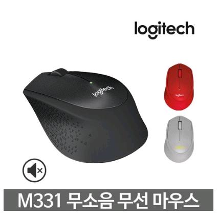 로지텍 로지텍코리아 M331 무소음 무선 마우스(정품) 마우스, 블랙
