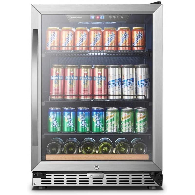 24 인치 110 캔 Sinoartizan 빌트인 음료 냉장고, 단일옵션
