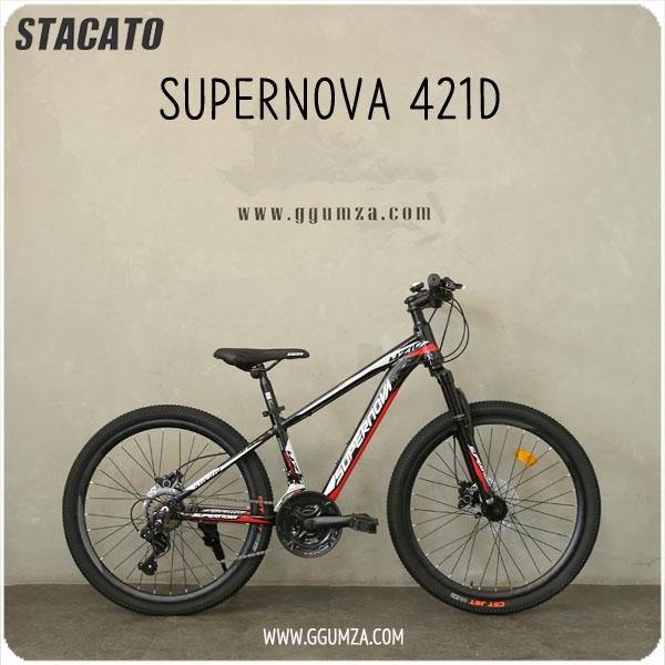 20년 스타카토 슈퍼노바421D 24인치 초등학생 MTB 자전거, 블랙 무료조립배송