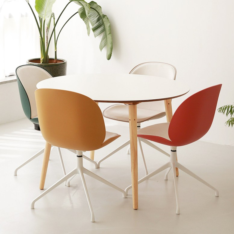 체나레 HPM 멜라민 화이트 원형 1100 테이블 식탁