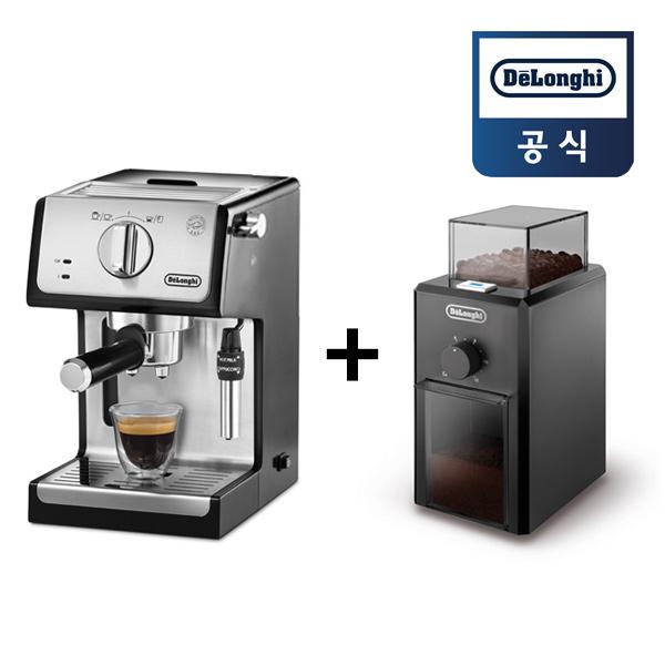 드롱기 반자동 커피머신 ECP35.31 +커피 그라인더 KG79, ECP35.31 + KG79