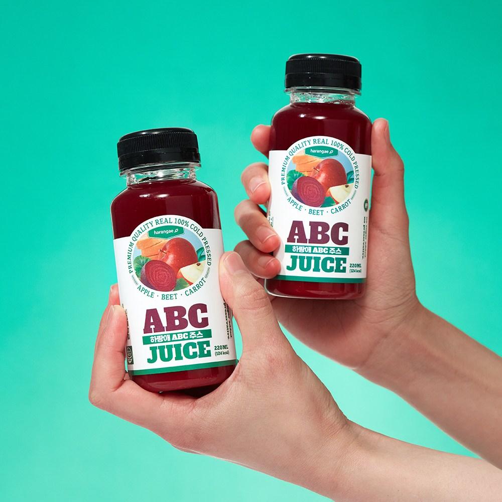 하랑애 ABC 쥬스 비가열 콜드프레스100% 클렌즈주스, 5세트, 220ml