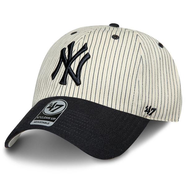 MLB 47브랜드 클린업 뉴욕 양키즈 스트라이프 네이비 모자