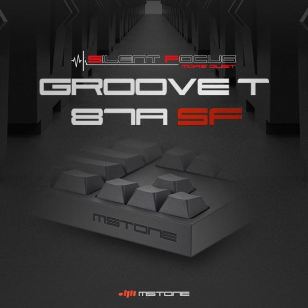 mStone Groove T 87A SF 다크그레이 (저소음 적축/Silent Red), 옵션없음, 단일상품