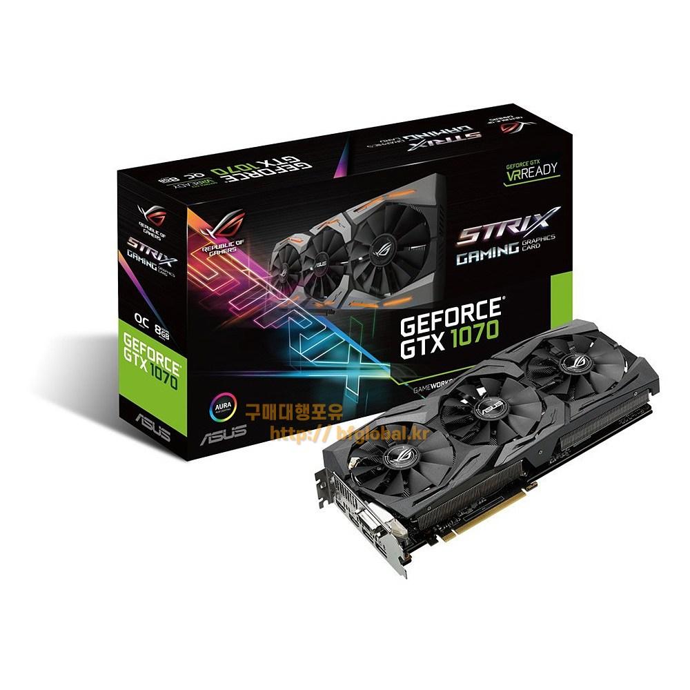 ASUS GeForce GTX 1070 8GB Graphic Card 그래픽카드, STRIX-GTX1070-O8G-GAMING