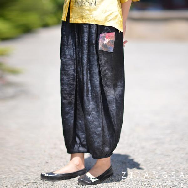 [4110] 인견 날개 바지 여자생활한복 여름개량한복 베기바지 통바지 인견바지 패션한복 데일리한복 (POP 1357462181)