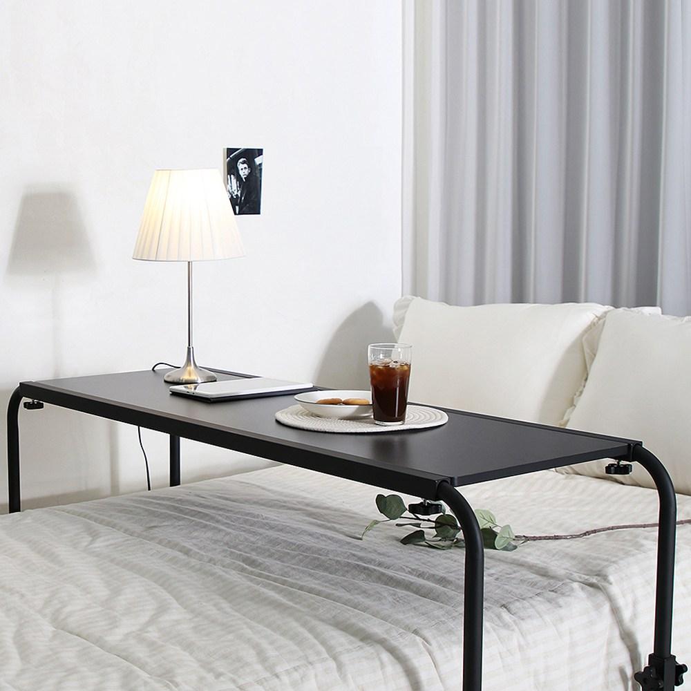 바네스데코 아이올라 침대 높이조절 사이드 테이블 (black), 단품