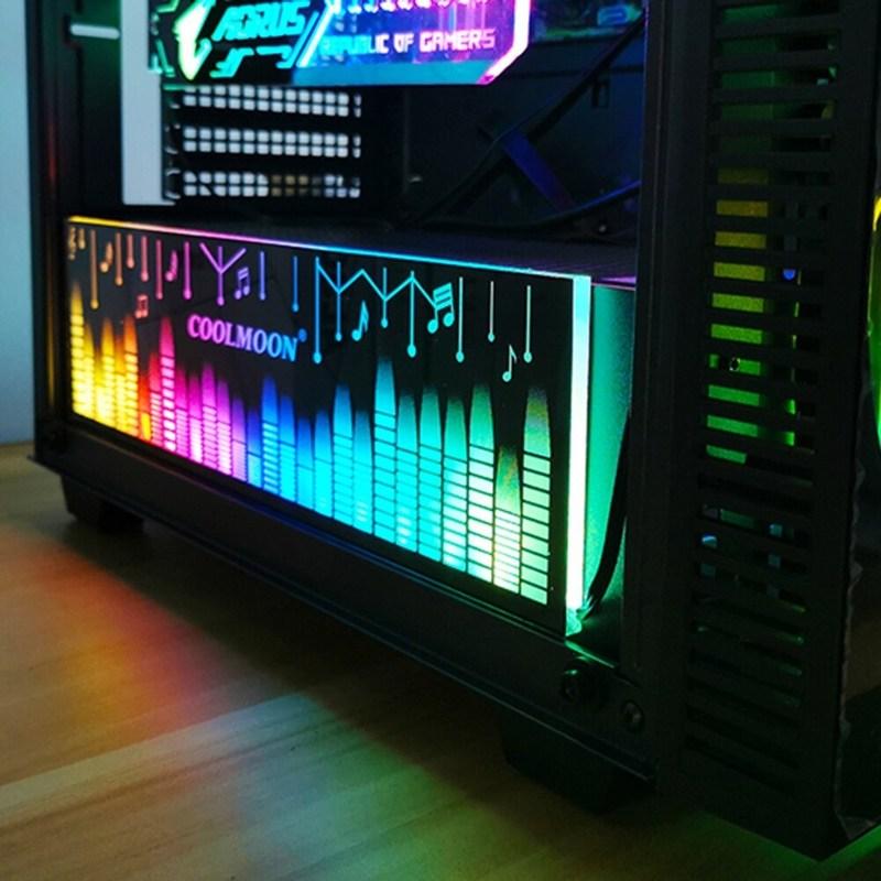 그래픽카드 글카 COOLMOON RGB 라이트 보드 25cm 카드 브래킷 광 채굴 게임용, 협동사