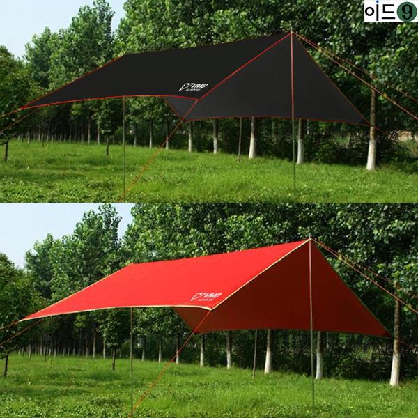 이드나인 모모 미니타프 풀세트(300x295cm) 미니멀캠핑, 블랙
