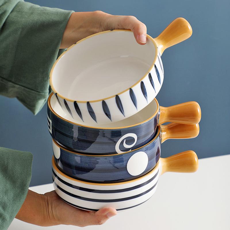 밥그릇 냉면/라면 국그릇 북유럽 도자기 면기 우동기 덮밥 우동 4P/2P세트 커플식기 홈세트 도자기, B+C
