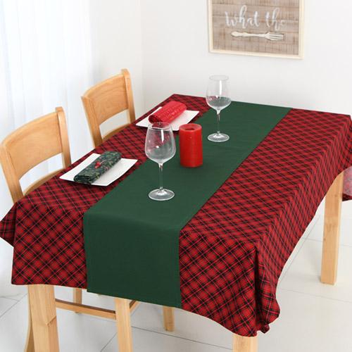 찬미디자인 크리스마스 식탁보+러너세트, X-mas. 21, 4인식탁보 170x108