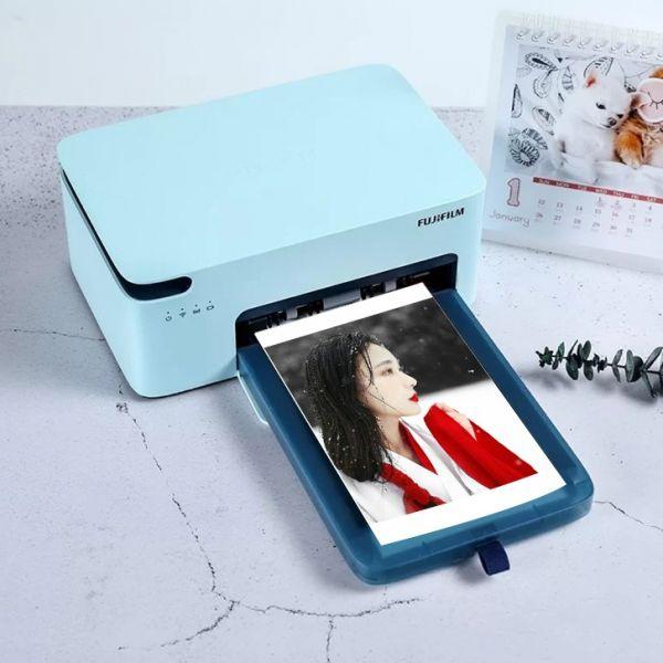 후지 필름 Xiaoqiaoyin 2세대 핸드폰 스마트폰 사진 인화 포토프린터 사진인화기, 블루