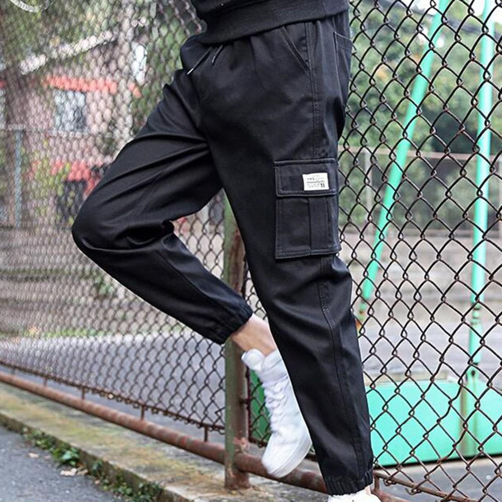 kirahosi 트렌드 여름 남성 팬츠 캐주얼 조거 트레이닝 밴딩 카고 바지 41호 Yl013g