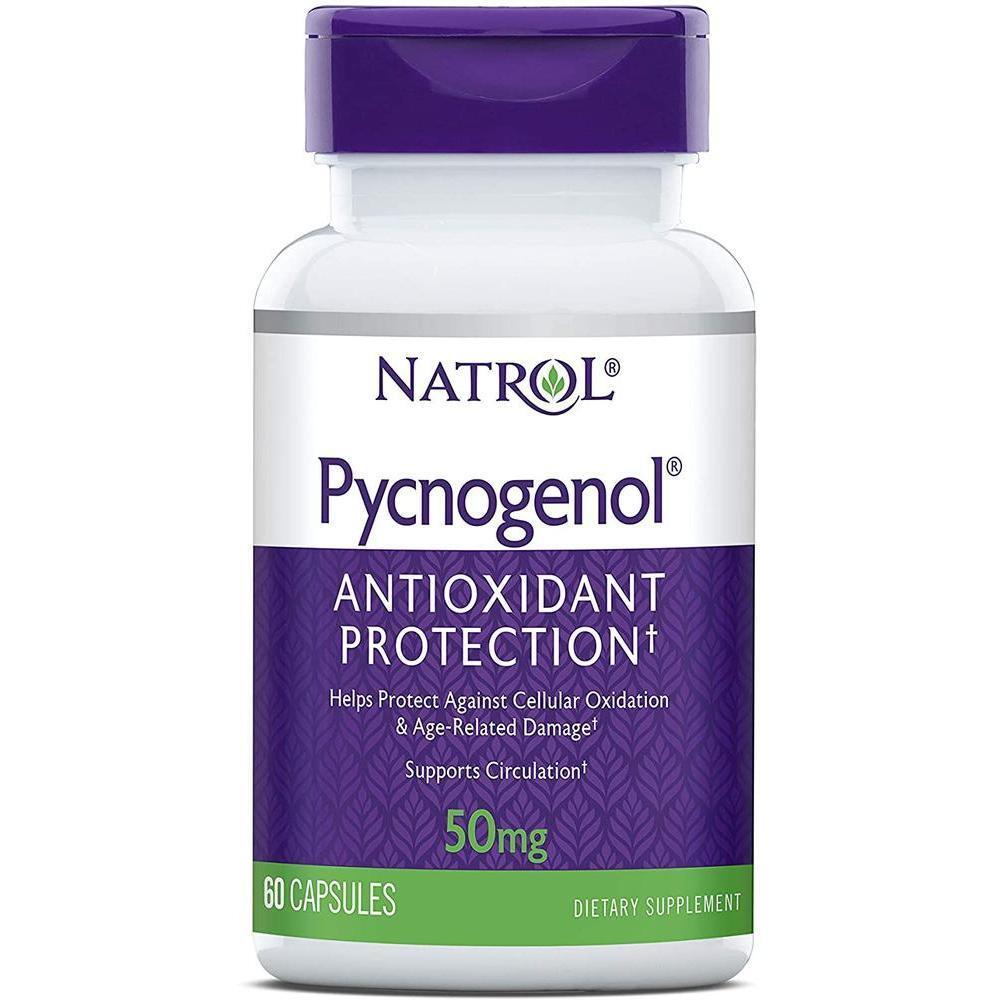 [직구 피크노제놀] Natrol Pycnogenol Capsules Antioxidant Protection Protects Against Cellular Oxidation a, 1set, 1set