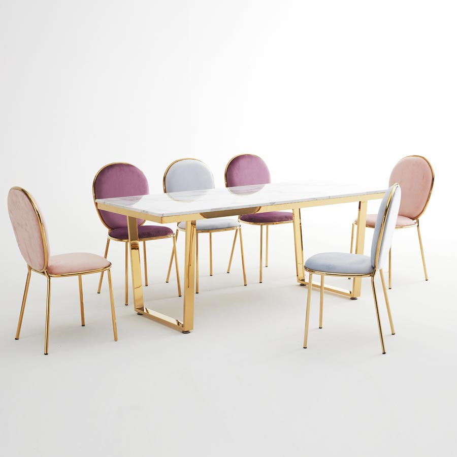 티에스퍼니처 아크바 골드 대리석식탁 4인 6인1800 식탁/입식테이블, 마블