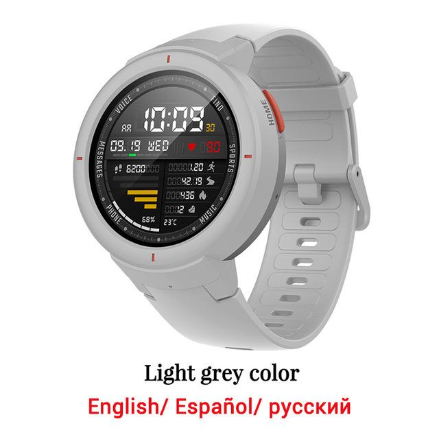 [해외]Amazfit verge 글로벌 버전 huami amazfit sport smartwatch, OneSize, Grey watch 193