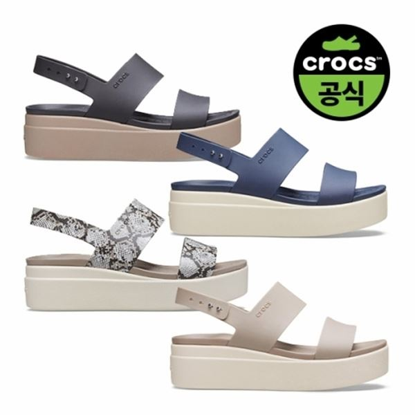 크록스 공식 여성 CROCS BROOKLYN LOW WEDGE W 4종 택1 20SWWD206453