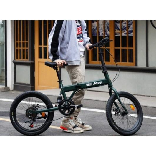 JEEP 지프 접이식 자전거 20인치 출퇴근용 미니벨로, 20인치 접이식 7단