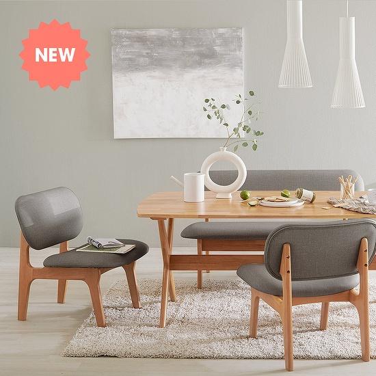한샘 포레 릴렉스 4인 식탁 벤치세트 (의자2 벤치1) DIY, 색상:A형: 오트밀(A)