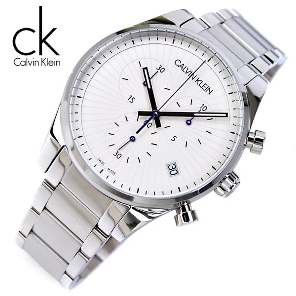 [스위스메이드] 캘빈클라인 K8S27146 크로노그래프 남성용 야광인덱스 명품 시계