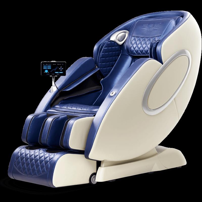 안마 의자 가정용 전신다기능 마사지 전자동 안마기 Shangming 4D 운동 홈 SL, 파란색과 흰색