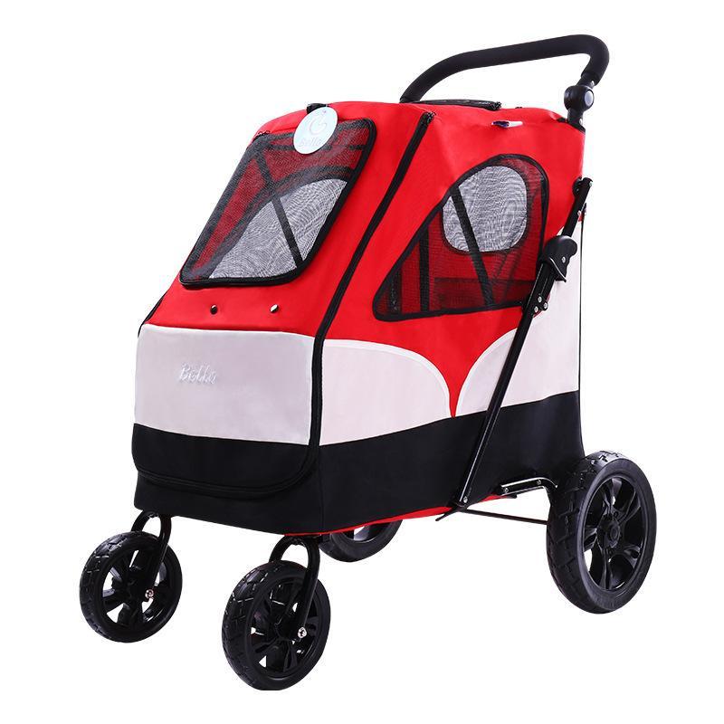 명품 대형 중형 소형 강아지유모차개모차 강아지트레일러 236, 2. 색상 분류: 빨간