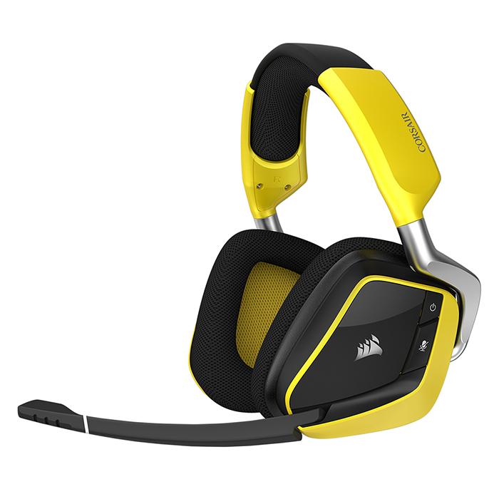 커세어 VOID PRO RGB WIRELESS PREMIUM 게이밍 헤드셋, 커세어 VOID PRO RGB 무선헤드셋, SE-옐로우