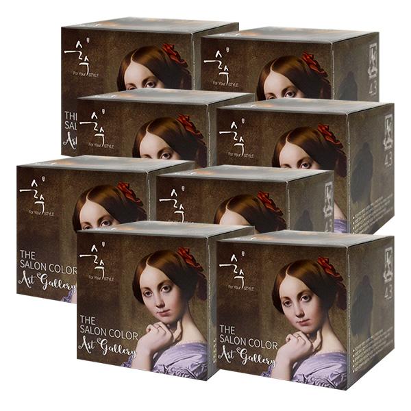 순수 더 살롱 컬러 아트 갤러리 4.3 밀크 브라운X8개, 단품, 단품
